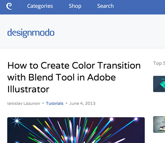 Designmodo web design blog top blogs follow