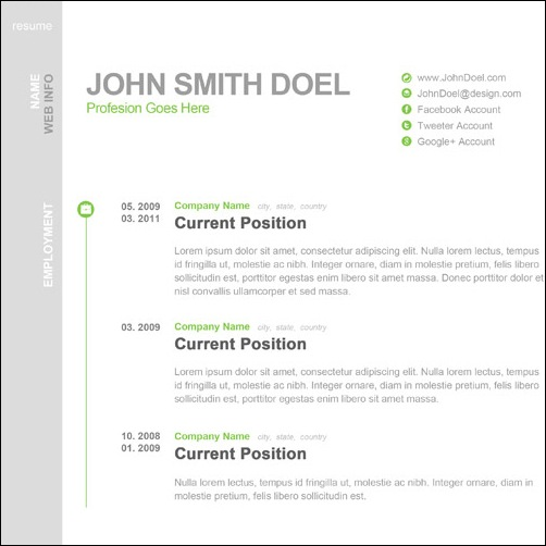 Free Resume Templates No Charge | Resume Template
