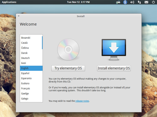 Try Or Install Elementary OS